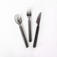 Factory Price Heavy Duty Restaurant Cutlery Plastic Spoon Fork And Knife