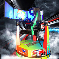 4DOF 900 degree rotating y8 car racing games for sales electric simulator for fun center