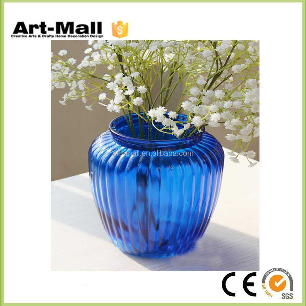 High quality wholesale trumpet glass vase made in china
