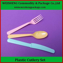 High class Food grade flatware set disposable plastic PS heavy duty cutlery