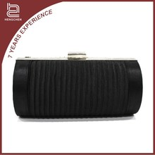 Classic black satin Evening Bags indian clutch purses wholesale