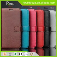 Customize genuine leather wallet phone case for Samsung Galaxy S6