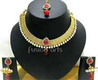 Polki Uncut Diamond Necklace Set
