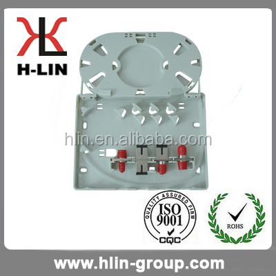 Hot sales ABS Plastic 4 Port Fiber Optic Distribution / Terminal box for FTTH