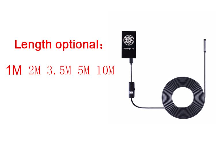 2M Cable IOS Android Wifi Endoscope 7mm Lens 6 LED Iphone Waterproof Endoscope Inspection Borescope Camera