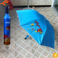 21 inch quality wedding gift compact sun promotion bottle cap umbrella