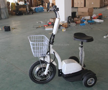 New design three wheeler standing up 3 wheel roadpet ginger mypet electric scooter ce with big front tire