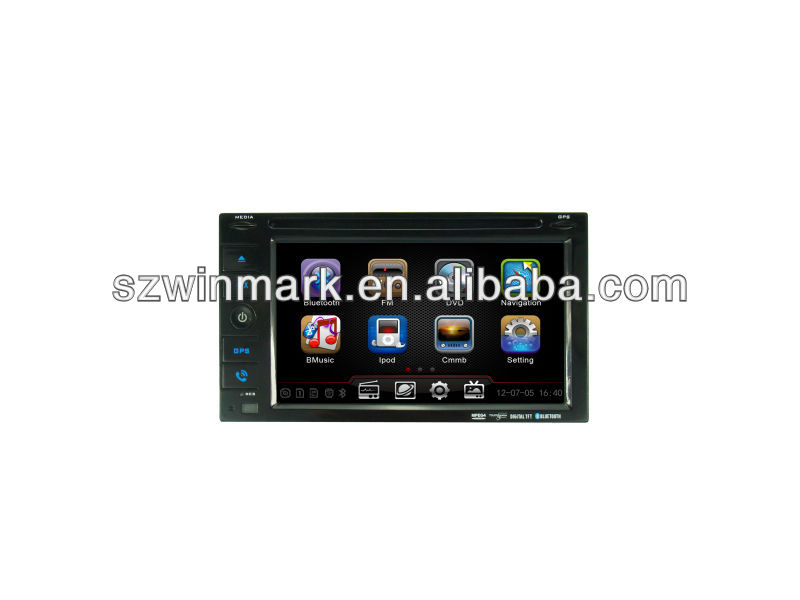 promotion!!!cheap 6.2inch double din universal car GPS/navigation with DVD/CD/SD/USB play function