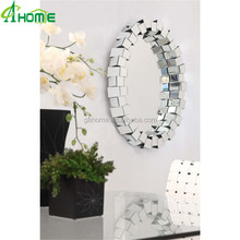 Modern Decorative Beveled Round Home Decoration Wholesale Hanging Wall Mirror