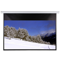 Electric projection screen with remote control