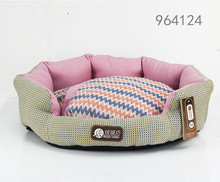 2016 high quality new home pet product machine washable funny luxury pink paw shape dog pet bed cot for medium dog