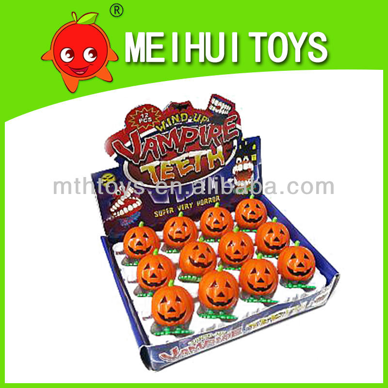 wind up toys plastic jumping pumpkin halloween toy