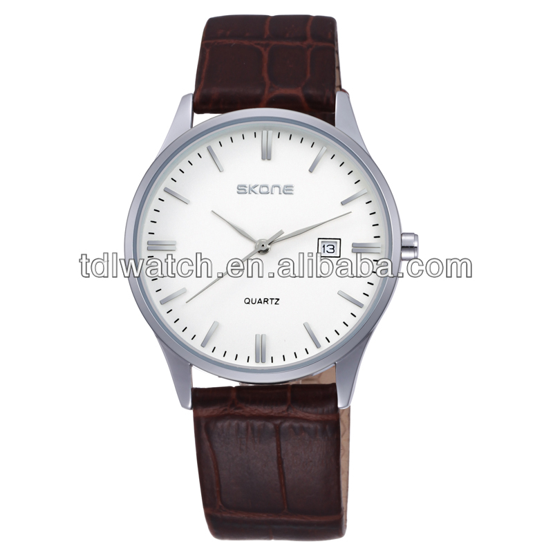 9309 Skone men leather watch 2014 wholesale watches chinese