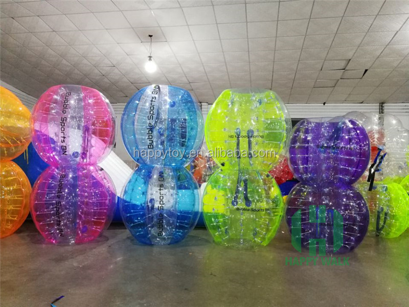 Best selling TPU /PVC cheap inflatable bumper ball human size soccer bubble ball