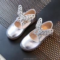 kid shoe size in 26-30cm leather sandal Butterfly ballerina shoe