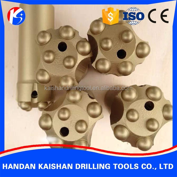 tapered button bit diamond core bit power drilling tools rock drill bits for quarry