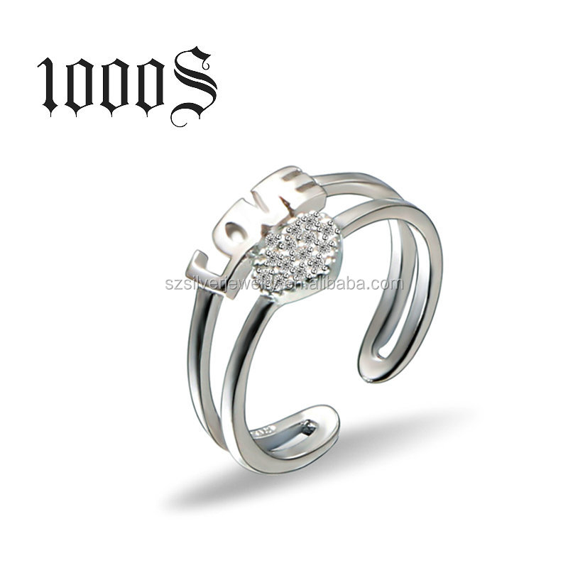 2016 New Design Product Adjustable Love Ring , 925 Sterling Silver Ring