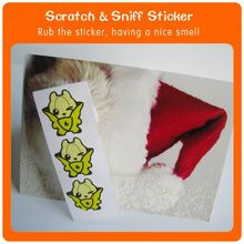 Long Lasting Fruit Fragrant Scratch&Sniff masquerade mask sticker