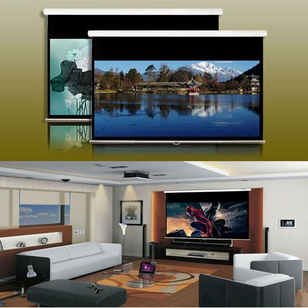 hd cran de projection pour le home cin ma arri re crans de projection cran de projection. Black Bedroom Furniture Sets. Home Design Ideas