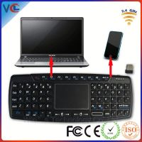 Shenzhen multifunction mini wireless android keyboard case with touchpad
