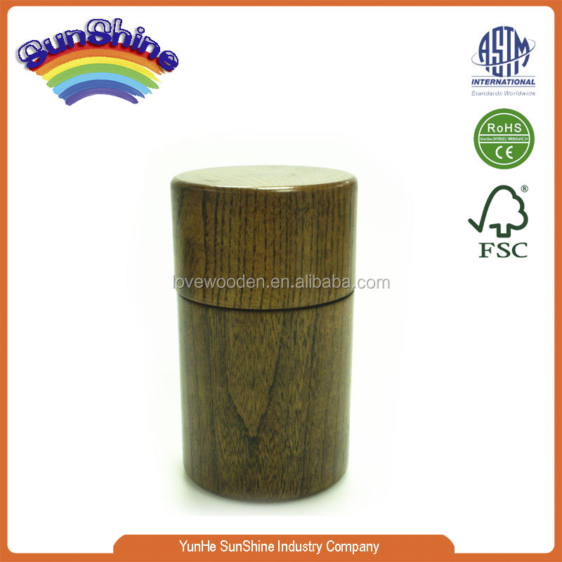 2015 new hot sell wooden EN71 ASTM standard water Transfer Printing wooden tea case ES-8905