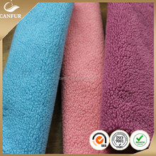 polyester sherpa fleece faux fur fabric