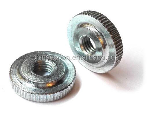 Customized DIN467 short knurled nuts, knurled thumb thin nuts low <strong>price</strong> in China Fastener zhejiang city