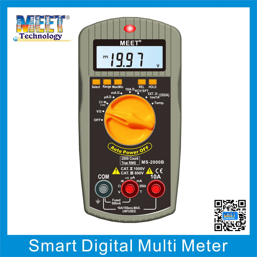 MS-2000B 2016 Auto/Manual Range Digital Multimeter with Temperature Measurement