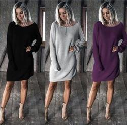 Spring/fall Woman design dresses long sleeve western fashion ladies new casual dress