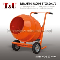 180L mini hand concrete mixer with two wheel