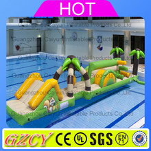 Commercial Inflatable Water Slide Floating Game / inflatable water obstacle course