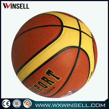 9.5' pvc laminated leather basket ball