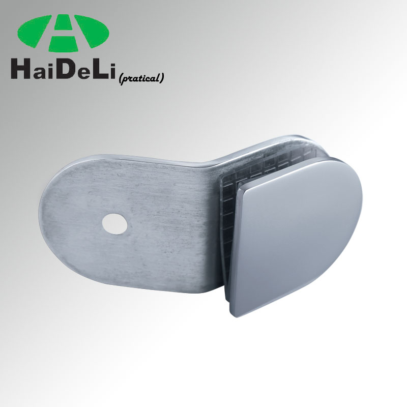 Haideli135 deg glass to wall stainless steel wall mounted glass clamp