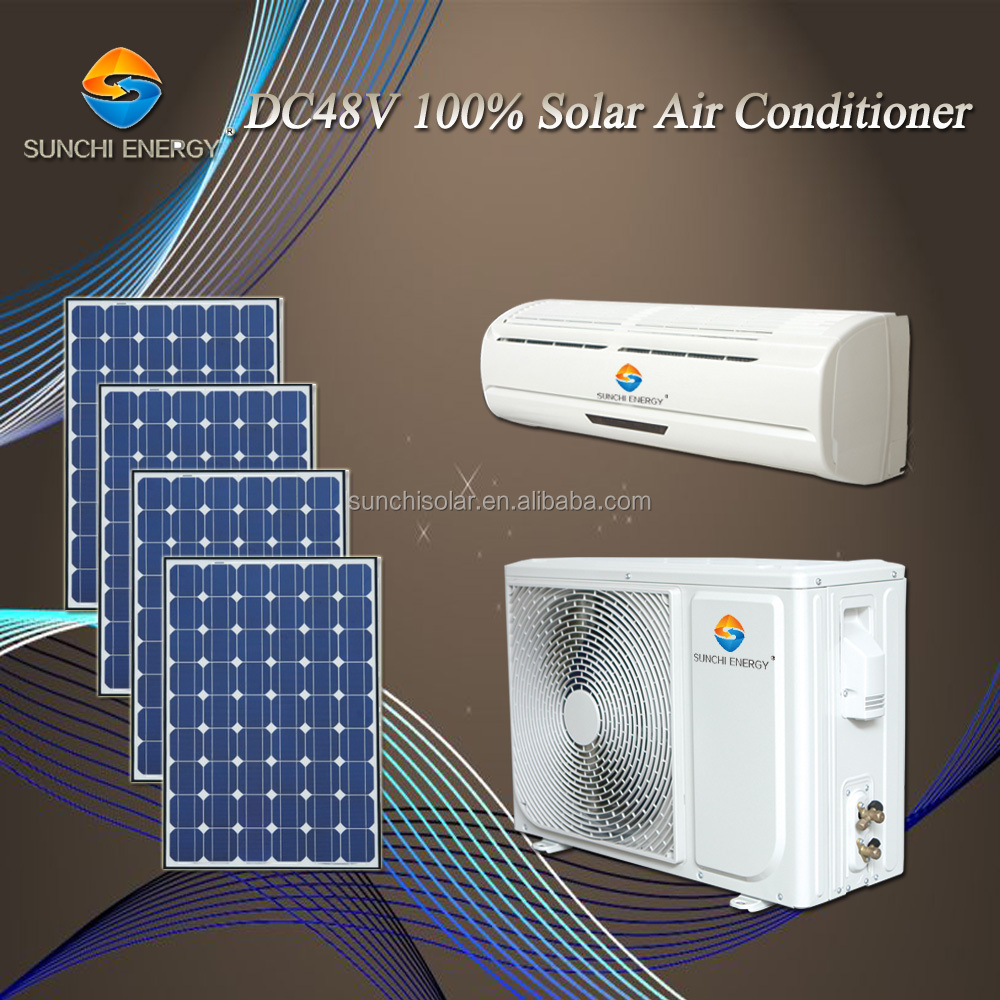 Wall mounted 12000BTU 18000BTU total DC48V 100% solar air conditioner split unit