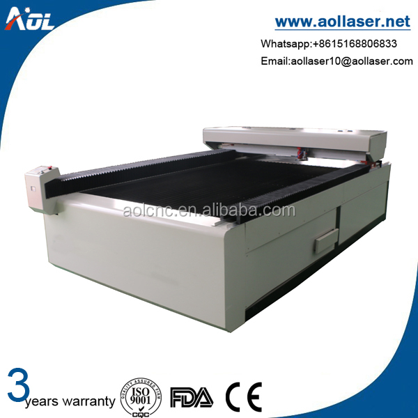 AOL 1325 three years warranty co2 laser automatic metal stencil cutting working machine