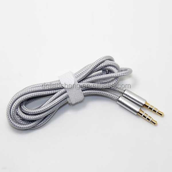 AUX cable nylon braided 3.5mm male to male aux cord