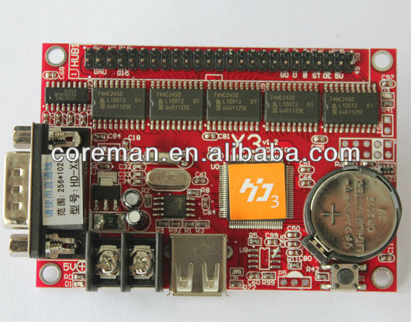 alibaba trade free easy operate usb module led controller rs232 led display control / serial port led display controller