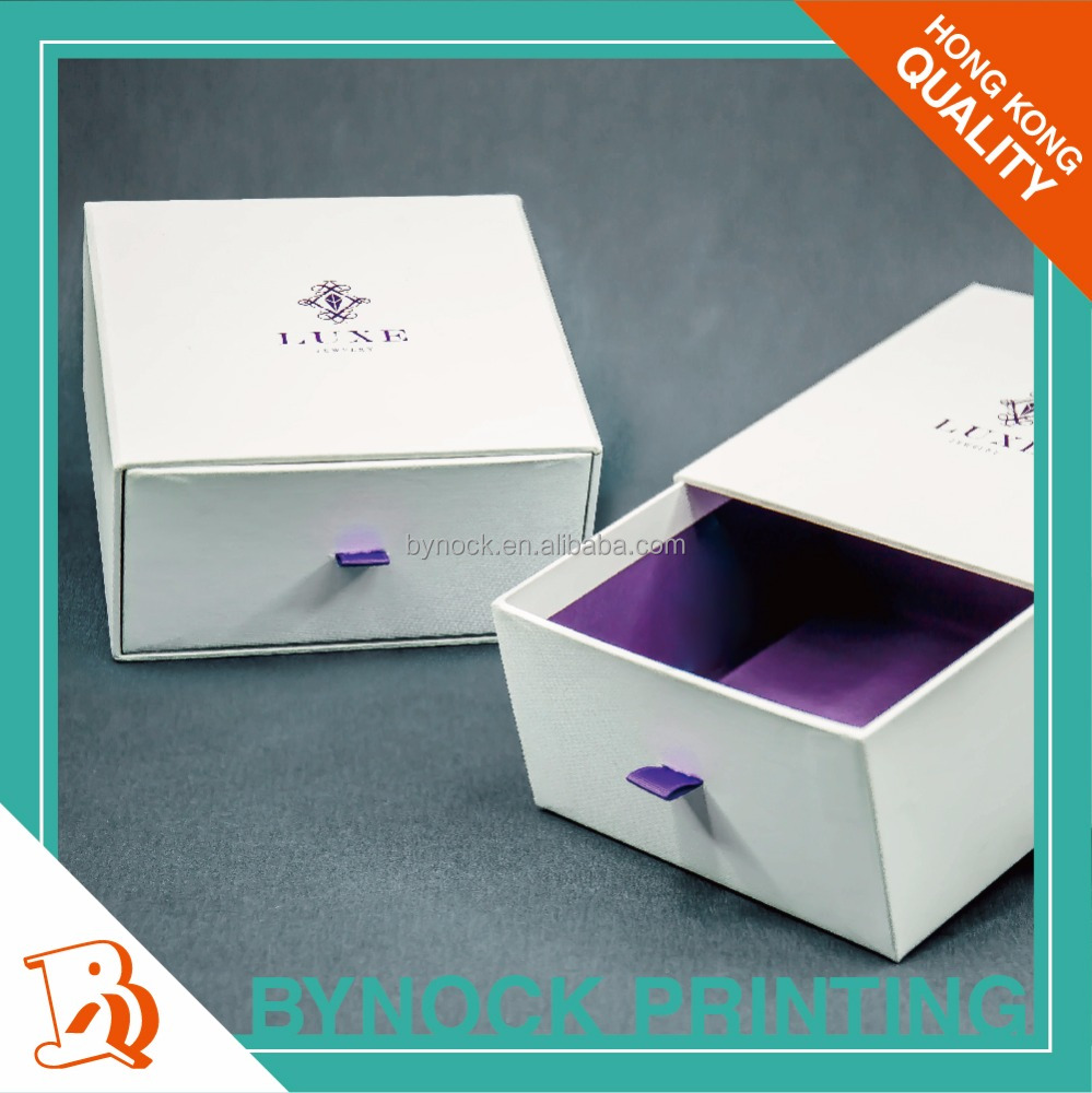 High Quality Luxury in Fancy Paper Wrapped Drawer Gift Box
