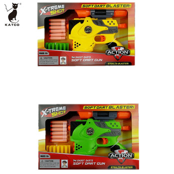 High Quality  Outdoor Children's Outdoor Game Soft Bullet Gun Toy Soft Dart Gun Shooting Gun for Kids.
