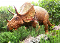 Life size mechanical dinosaur for dino park