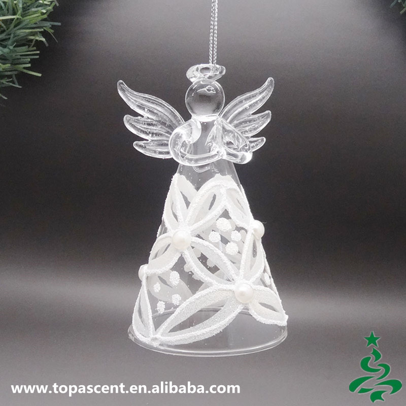 delicate hanging glass christmas angel decoration wholesales from direct factory in china