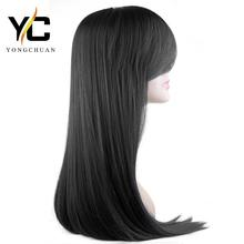 chinese supplier wholesale 30 inch long black synthetic hair free sample wig, wunder wig in dubai
