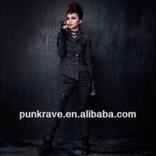 Punkrave Goth Rock slim tight leather pants with wholesale price K-105
