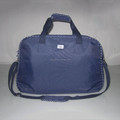 Custom blue foldable simple low price storage travel bag with polka dot lining