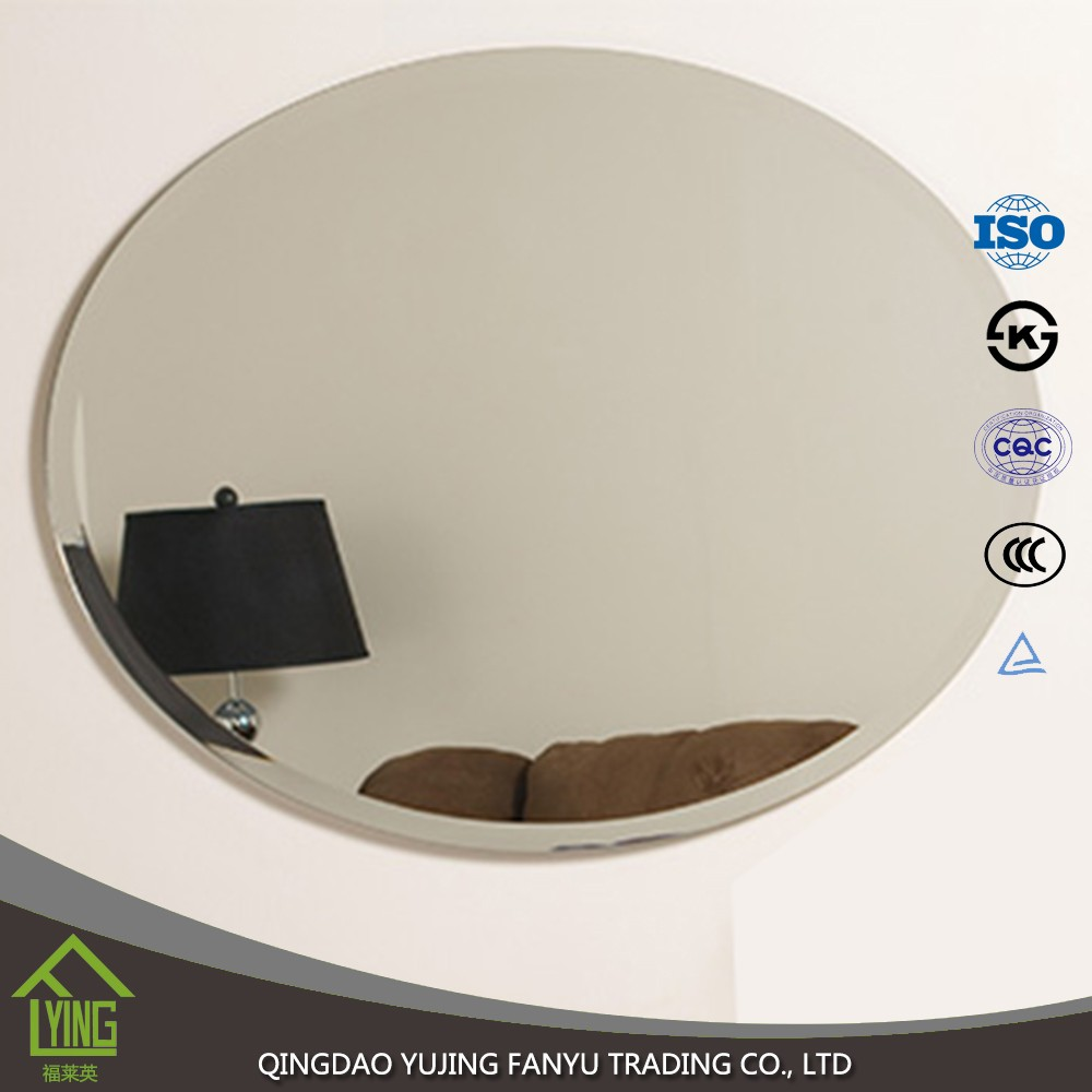 Oval shape glass silver mirror for cosmetic and furnitures