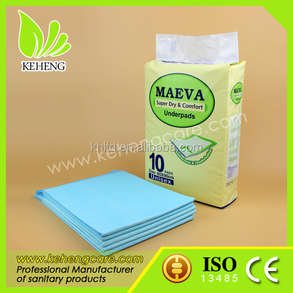 diferent size medical disposable underpad