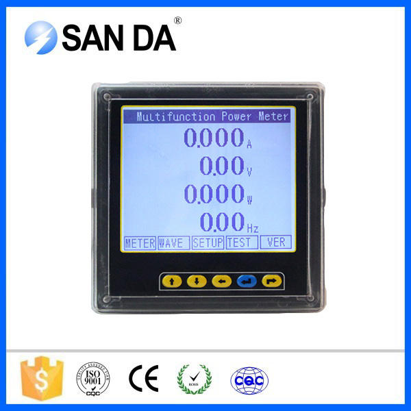 factory lcd display multifunction electrical power meter RS485