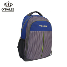 Brand name fashion OEM 30L grey/blue ripstop blank sublimation backpack with notebook compartment