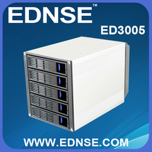 "EDNSE 3U Network storage kit ED3005 5 x 3.5"" SATA Hot Swap into 3 x 5.25"" Drive Bays sata1/2/3 and sas HDD trays case"