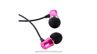 Stylish Metal earbuds earphones wholesale funky noise cancelling earphones for MP3